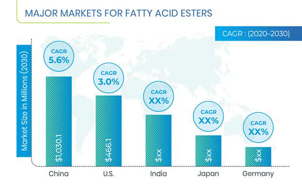 Fatty Acid Esters Industry Regional Analysis
